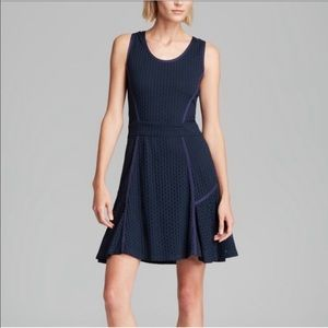 MARC JACOBS stretchy navy blue sleeveless dress